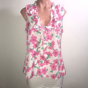 Lilly Pulitzer Tops - Lilly Pulitzer Allison Ruffle Floral Blouse Top M